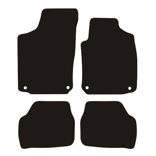 VAUXHALL CORSA C RUBBER CAR MATS 2004-2006 (4 ROUND CLIPS)