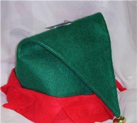 Adult Felt Elf Hat with Jingle Bell