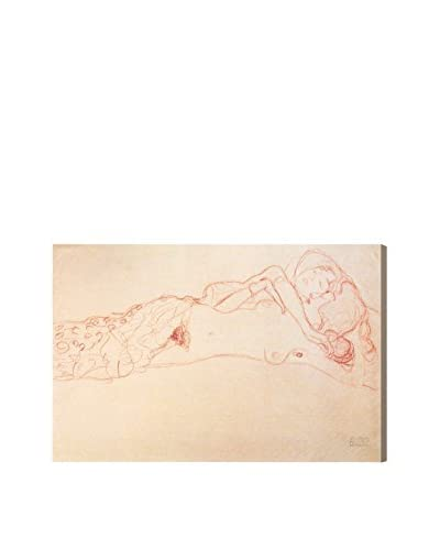 The Art Cabinet Gustav Klimts Two Laying On The Back Canvas Print