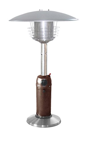 AZ Patio Heaters HLDS032-BB Portable Table Top Stainless Steel Patio Heater, Hammered Bronze (Best Outdoor Heater compare prices)