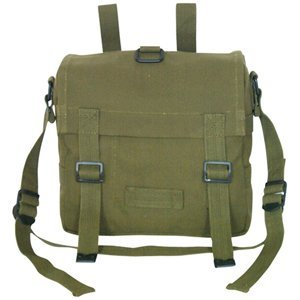 Olive Drab Mini German Shoulder/Bread Bag - 8.5 X 8.5 X 3.5, Carry Handle Pack