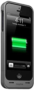 Mophie Juice Pack Helium Battery Pack Case for iPhone 5 - Retail Packaging - Dark Metallic