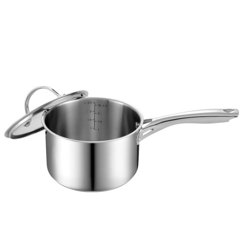 Cooks Standard NC-00349 Stainless Steel Sauce Pan with Cover, 3-Quart (Sauce Pans Stainless Steel compare prices)