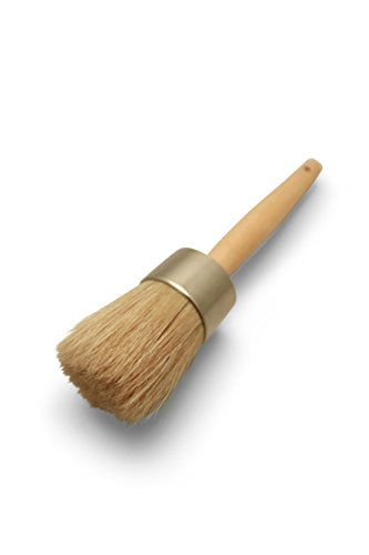 Furniture Wax Brush - 100% Natural Bristles,Rust reisitant Ferrule, Ergonomic handle,Lightweight and extremely durable (Waxing Brush compare prices)