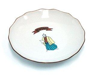 花型皿 殿様シール