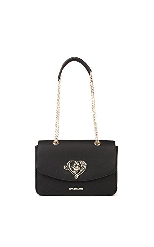 Moschino Love shoulder bag Grain Pu Black