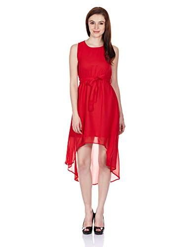 Miss Chase Womens Silk Tunic Dress (MCS14D01-21-64_Red_Large)