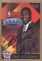Derrick Coleman New Jersey Nets 1990 Skybox Draft Pick Autographed Hand Signed... by Hall+of+Fame+Memorabilia