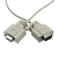 ElectroExperts Null Modem Cable, DB9 Male to DB9 Female, UL rated, 8 Conductor, 25 foot