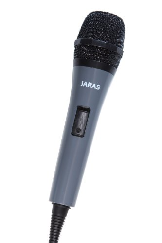Jaras Jj-504 Dynamic Karaoke Microphone With 13.1 Ft Cord & 3.5Mm Apapter For Karaoke,Vocal,Instrument