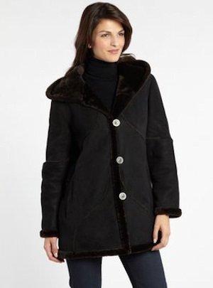91de34cbced Womens Shearling Coat Discount  Blue Duck Micro-Shear Shearling A ...