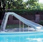 Pool Slides:White, Interfab whitened Water swimming pool Slide 4ft higher Left