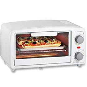 New Hamilton Beach Proctor-Silex XL White Toaster Oven Broiler 15 Minute Timer With Auto Shutoff