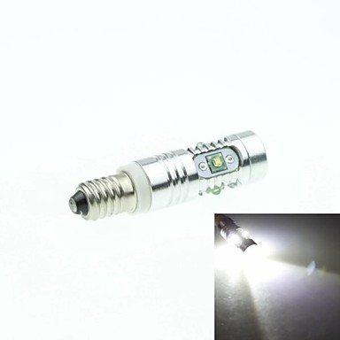 E10 Cree Xp-E Led 25W 1600-1800Lm 6500-7500K Ac/Dc12V-24 Indicator Lightsturn White - Silver Transparent