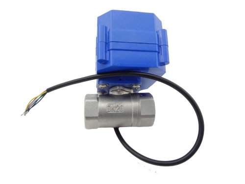 """Misol 1Pcs Of Motorized Ball Valve 3/4""""(Npt)/ 110Vac / 2 Way / Electrical Valve / Ball Valve With Acuator / Reduce Port / Cr06 / Stainless Steel"""