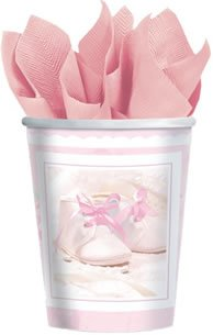 Tiny Blessing Pink Paper Cups (8ct)