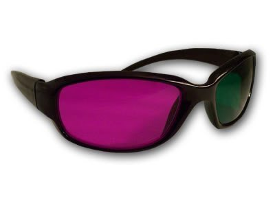 Magenta/ Red-Green Anaglyph Special Detail 3D Glasses 3D Movie Game