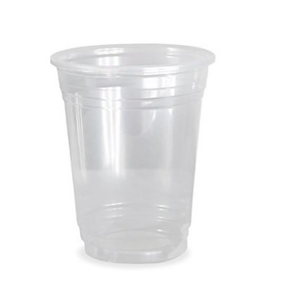 100 PCS 16 oz Plastic CLEAR Cups for Iced Coffee Bubble Boba Tea Smoothie