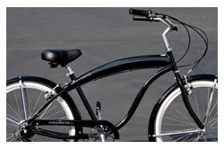 Anti-Rust Aluminum frame, Fito Modena EX Alloy Shimano 7-speed - Glossy Black/Red, men's Beach Cruiser Bike Bicycle Micargi Schwinn Firmstrong Nirve Style