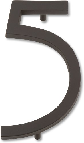 Atlas Homewares AVN5-O Modern Avalon 4.5-Inch No. 5 House Number, Oil Rubbed Bronze at Sears.com