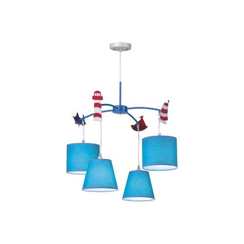 Spot-Light Kronleuchter Hatty Kinderzimmerleuchte, 4-flammig, blau SP-3017408