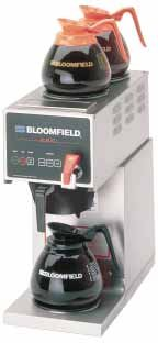 "Bloomfield 1012D3F E.B.C Coffee Brewer, Automatic, Three Warmer, In-Line, 21"" Depth, 8 5/8"" Width, 18 7/8"" Height"