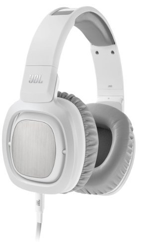 Jbl J88A Wht Premium Over Ear Headphones With Jbl Drivers, Rotatable Ear Cups And Microphone, White