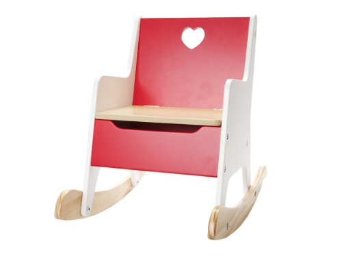 Jip Rocking Chair Heart MDF, Red