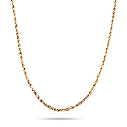 "Twisted Simple Rope Chain Necklace For Men & Women (24"")"