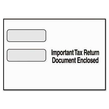 6 Pack Double Window Tax Form Envelope for 1099