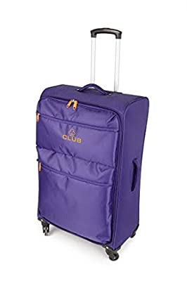 "Club® 4 Wheel Spinner Super-Lightweight Suitcase Luggage, World Lightest Holiday Carry on Baggage, Large and Small Cabin Travel Bags in 23"" 27"" 31"" Sets"