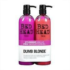 Tigi Bed Head Dumb Blonde Shampoo And Reconstructor Conditioner Duo - 25.36Oz Each front-520543