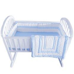 Double Hotel Cradle Bedding - Color: Light Blue Size: 18 x 36