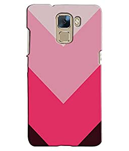 EU4IA Aztec Pink Pattern MATTE FINISH 3D Back Cover Case For Huawei Honor 7 - D235