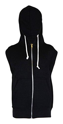 Uomo, senza maniche, con cappuccio, Top Sweats taglia S M L XL XXL XXXL 4XL nero Medium