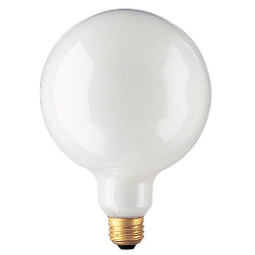 12 Pack 150 Watt G40 Medium Base 125 Watt 3000 Hour White Globe Lightbulb