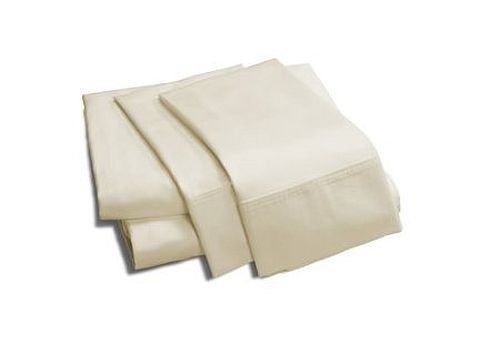 Luxurious Silky 100% Vicose from Bamboo 4pc Bed Sheet Set, Ivory Solid / Plain, King Size