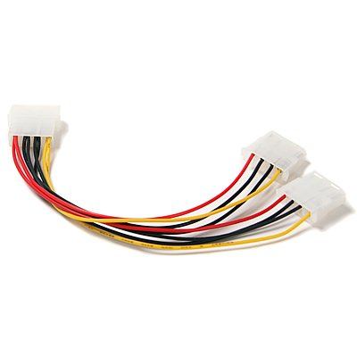 Computer Molex 4 Pin Power Supply Y Splitter