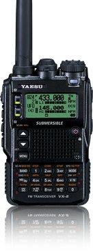 Yaesu VX-8R 50/144/430 MHz Triple-Band Heavy Duty Submersible Transceiver - Bundle