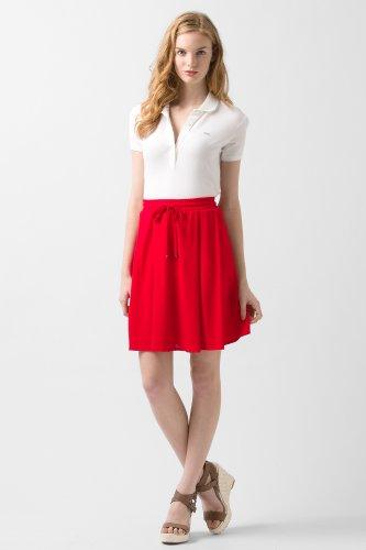 Drawstring Fluid Pique Skirt