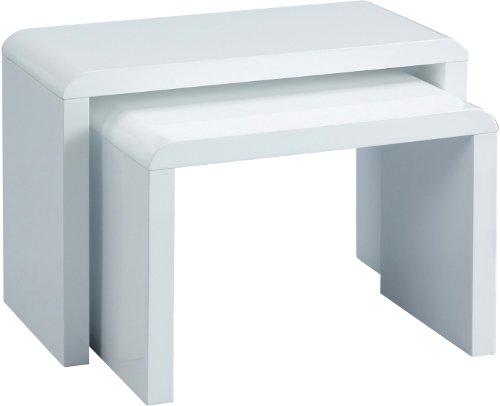 HomeTrends4You-510950-2-Satztisch-59-x-41-x-30-cm-wei-Hochglanz