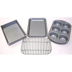 Chicago Metallic Toaster Oven Baking Set