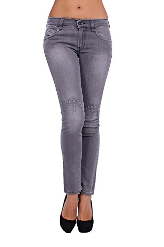 DIESEL - Jeans Donna ZIVY 66D - Super Slim - Ankle - Stretch - grigio, W27 / L34