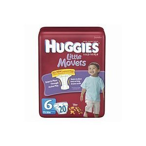 Huggies Supreme Little Movers Diapers, Size 6, 20-count