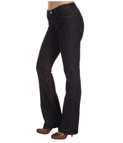 7 For All Mankind 7 For All Mankind Women's Mid Rise Bootcut Jean, Black, 23