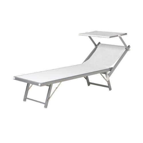 Jan-Kurtz-Sonnenliege-Aluminium-mit-Sonnendach-wei-Capri
