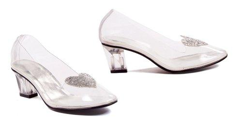 Cheap ELLIE 212-ARIEL 2″ Heel Clear Women's Slipper with Silver Glitter Heart (B008YUVIRM)
