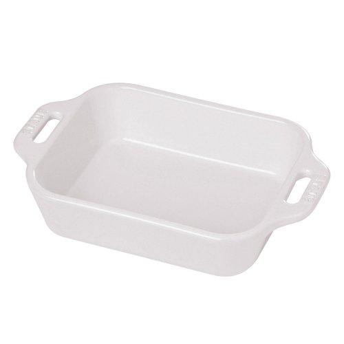 Rectangular Dish Color: White, Size: 13