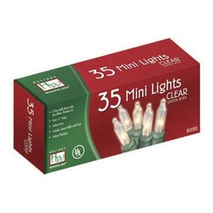 35-Count Clear Christmas Light Set (Mini Lights 35 Count compare prices)