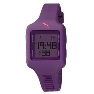 PUMA Women's PU910792012 Slide (Small) Dark Purple Digital Watch